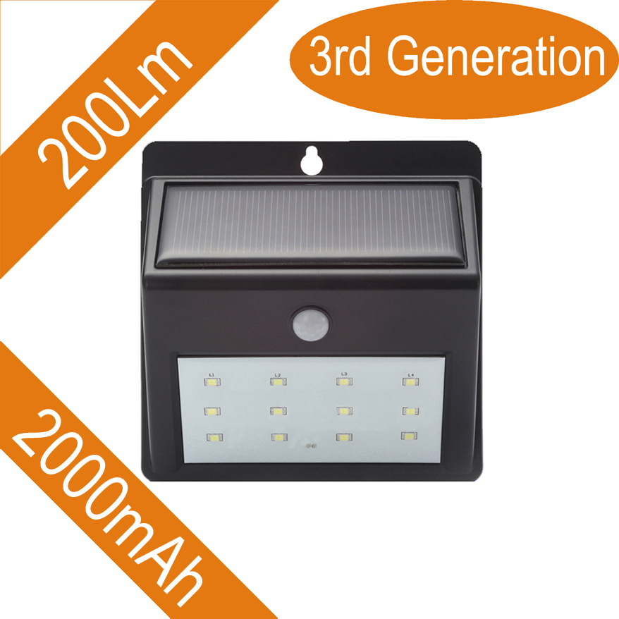 LED Solar Power Motion Sensor Garden Security Lamp Outdoor Waterproof Light