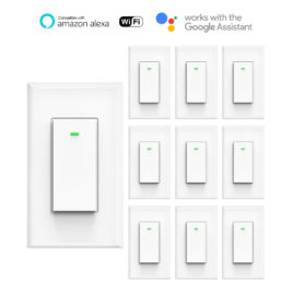 Smart Wall Light Switch Compatible with Google Home and Alexa (10pack)
