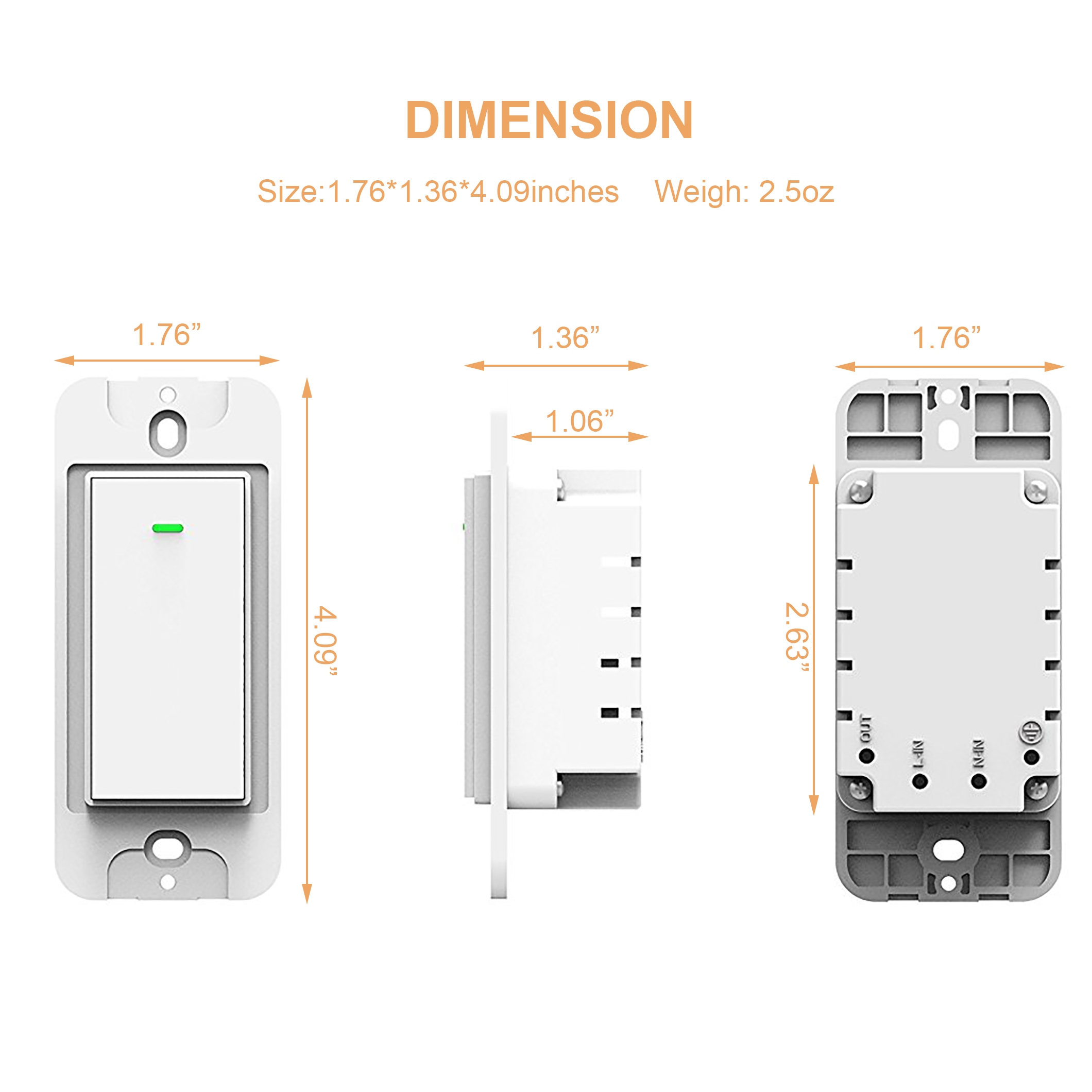 smart wall light switch compatible with google home and alexa 10pack. Black Bedroom Furniture Sets. Home Design Ideas