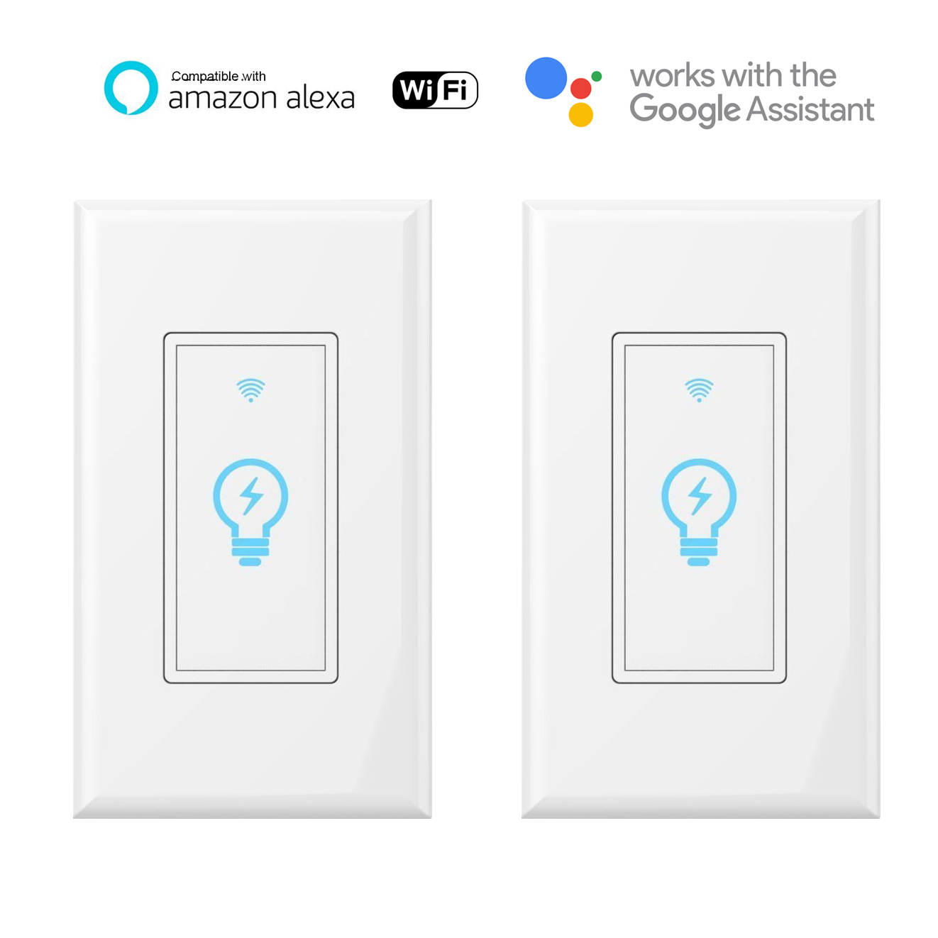 Smart Light Switch Wi-Fi Wall Touch (2pack)