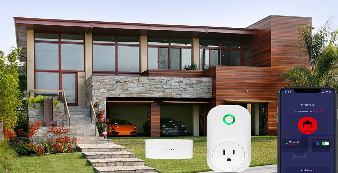 Smart wifi garage door opener